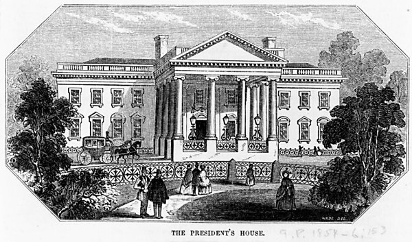 White House fence 1853