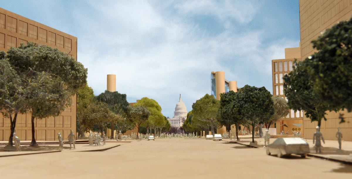 Eisenhower Memorial view
