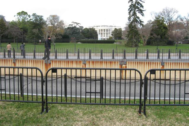 E Street security barriers