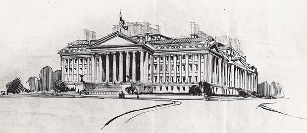 John Russell Pope proposal for State, War & Navy Building