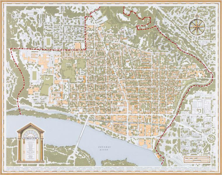 Map of Old Georgetown Historic District